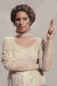 """I knew that with a mouth like mind, I just hadda be a star or something."" -- Barbra Streisand (photo by: Allan Warren)"