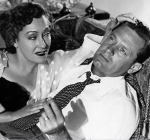 Gloria Swanson and William Holden in Sunset Boulevard. Now that's scary.